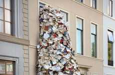 Stacked Literature Installations
