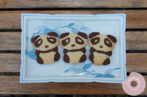 Bear-Mimicking Treats - The Hungry at Midnight Panda Cookies are Almost Too Cute to Eat