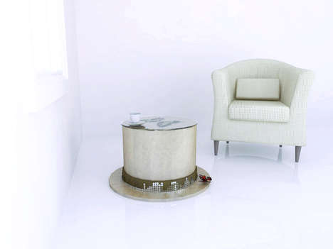 Butterfly-Covered Furniture - The Stolik Kawowy Hat Coffee Table Fills the Room with Glamor