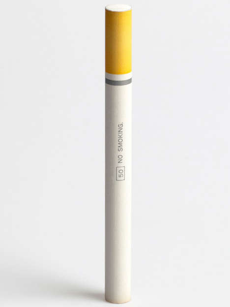 The No Smoking Cigarette Pencils Have an Addictive Appearance