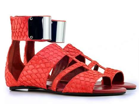 Metallic Fish-Inspired Footwear - Mandy Coon Introduces Fish Skin Shoes at New York Fashion Week