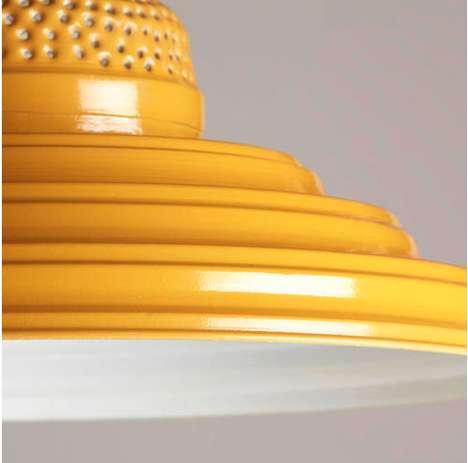 Radiant Rippled Light Fixtures