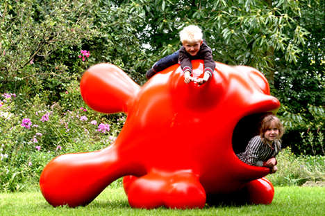 Climable Outdoor Art - Playsculptures by Pieter Kortekaas Encourage Kids to Come Up and Jump On