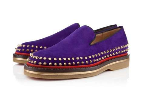 Hippie-Inspired Studded Loafers