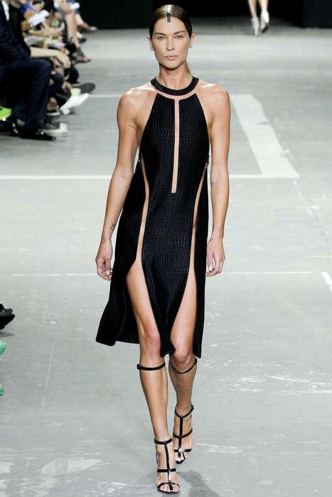 Symmetrically Sliced Clothing