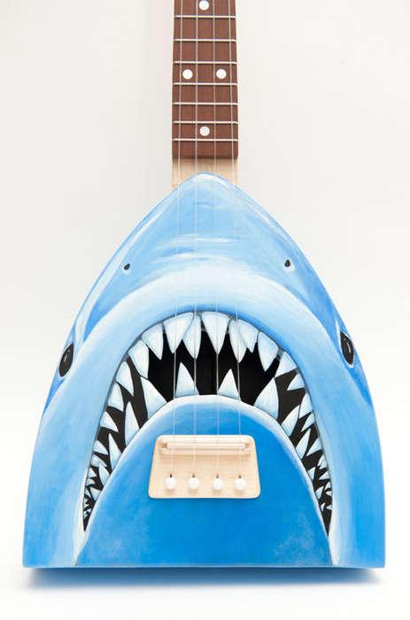 Teeth-Baring Shark Guitars