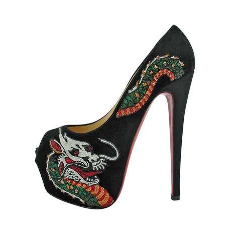 Ferociously Inked Footwear