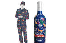 Chic Beverage Branding - Maison Kitsune X Pernod Absinthe Matches Marketing with Fashion