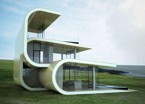 Curvaceous Shore Homes