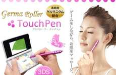 Skin-Pampering Styluses - Massage Your Face While Playing Video Games with the Germa Roller Touch