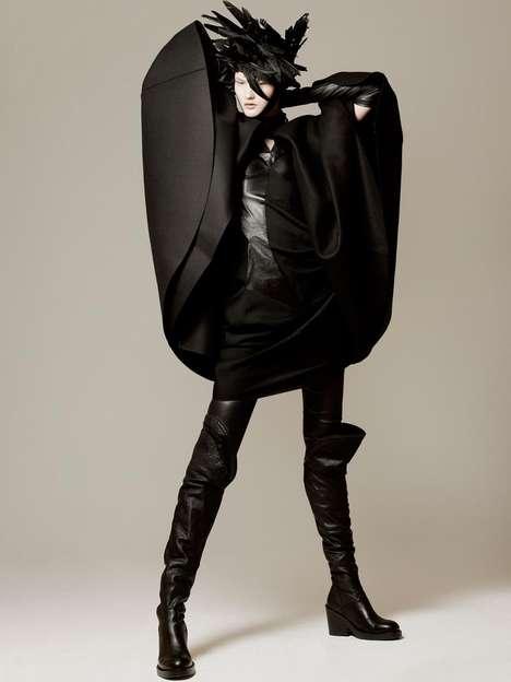 Dramatic Ebony Fashion