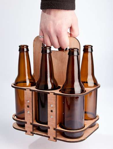 Reusable Wooden Beer Carriers