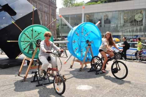 Bicycle-Powered Music Machines