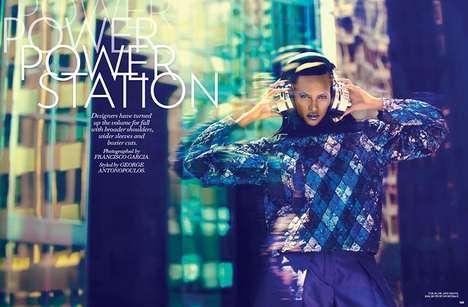 Futuristic 80s-Inspired Fashion