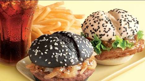 Politically Powered Burgers - McDonald's China Black and White Burger is Food with an Edge