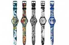 Body Ink-Inspired Timepieces - The Swatch Tattoo Art Watch Line is a Hardcore Way to Tell Time