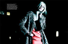 Edgy Nighttime Editorials - The Wonderland Magazine September/ Issue Stars Aline Weber