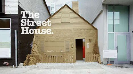 Cardboard-Constructed Shelter Homes - The Leo Burnett Raising The Roof Campaign: The Street House