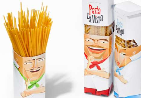 Personified Noodle Branding