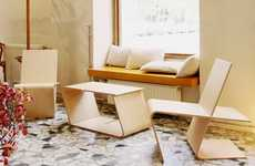 Multifunctional Slotted Chairs - The LLSTOL by Niko Klansek is a Multi-Purpose Piece of Furniture