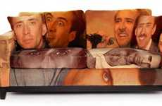 Film Star Furnishings - The Nicolas Cage Couch is Hilarious and a Little Bit Creepy