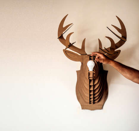Reycled Taxidermy Lighting