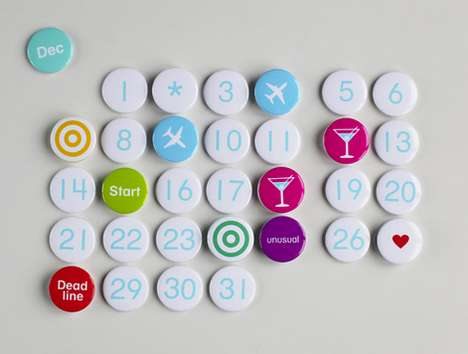 The Magnetic Calendar by Anton Drozdov is Bright and Customizable