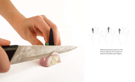 Finger-Friendly Knife Shields