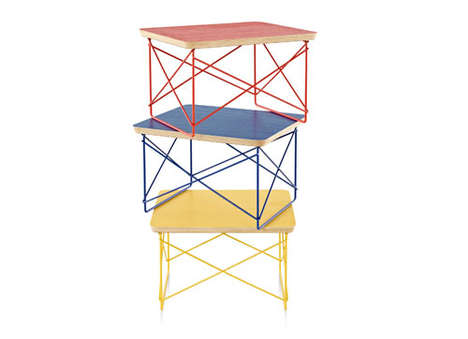 Vibrant Wire Side Tables