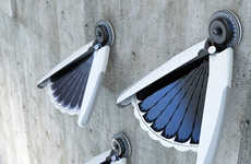 Solar Fan-Like Lighting - The Light Bird by Jang Eun Hyuk Opens and Closes Like a Fluttering Wing