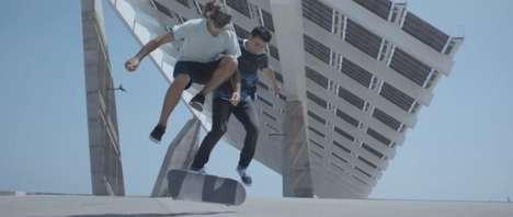 Synchronized Skateboard Advertisements