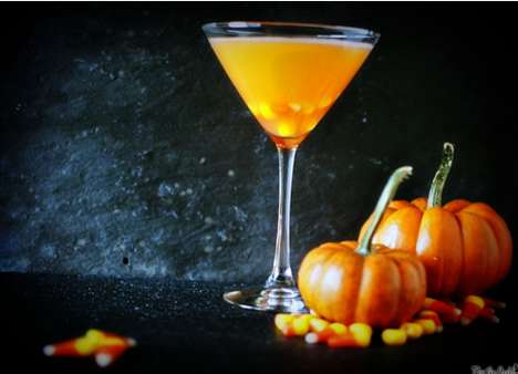 The Candy Corn Martini is the Perfect Drink for Adult Halloween Parties
