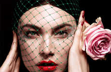 Birdcage Veil Editorials - The Vogue Russia Photoshoot Stars Jacquelyn Jablonski
