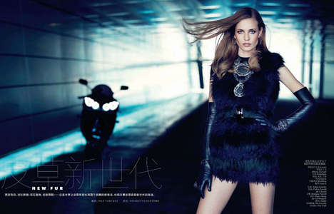 Luxe Biker Chic Editorials