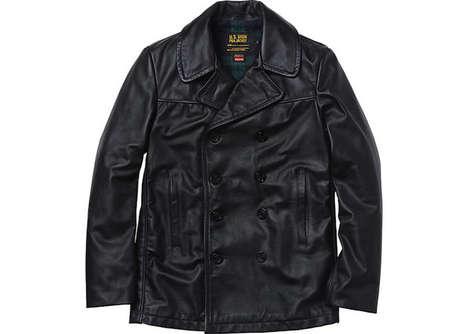 Plaid Army Leather Jackets