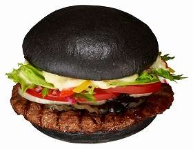 Abnormal Ink-Infused Hamburgers - The Premium Kuro Burger Satisfies Customers with Squid Ink