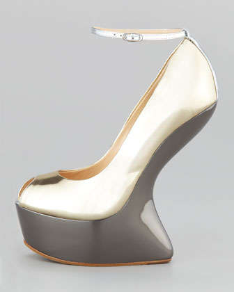 No-Heel Silver Pumps