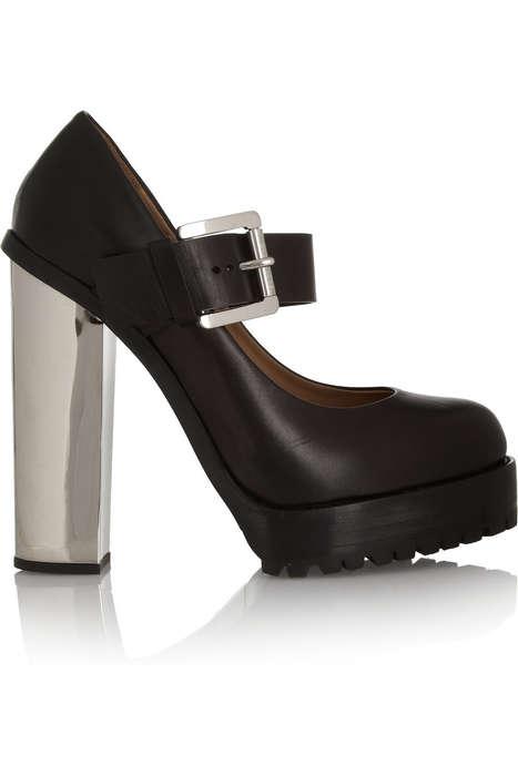 Clunky High-Fashion Heels