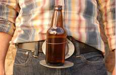 Hands-Free Drinking Accessories - The BevBuckle Lets You Rest Your Bottle or Can Wherever You Are