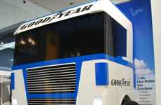 Monumental Toy Cars - Goodyear Helps Build a Life-Size LEGO Truck to Assist Drivers on the Road