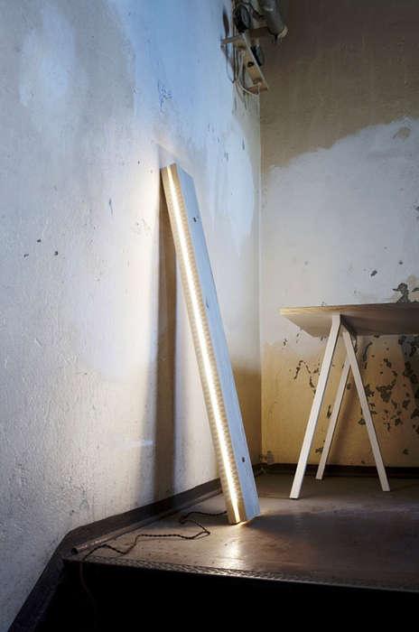 Raw Lumber Lamps