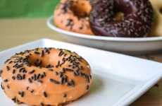 Festive Pumpkin Pastries - Serve Up Some Halloween Donuts to Celebrate the Holidays
