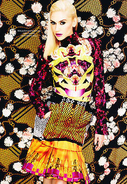 The Elle UK Gwen Stefani October 2012 Feature Boasts Fierce Florals