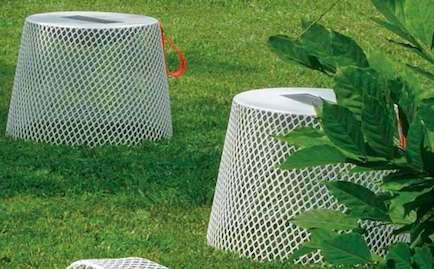 Upside-Down Basket Stools