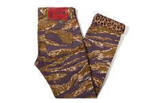 Reversible Animal Print Menswear - The Naked & Famous 'Exclusive Weird Guy Jean' Design is Daring