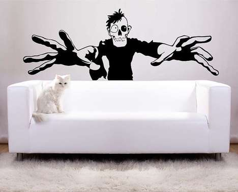 Movement-Inducing Wall Stickers