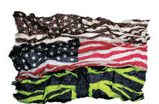Patriotic Neck Wraps - The Uniform Experiment Flag Stole Shows Off Your National Pride