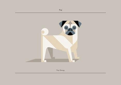 Blended Geometric Dog Portraits