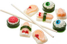Eyeball Sushi Sweets - The Sushi Body Parts Halloween Candy is Sweetly Morbid