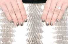 Layered Metallic Nail Art - The 'Gilded Fade Manicure' Coats Colors in an Ombre Fashion